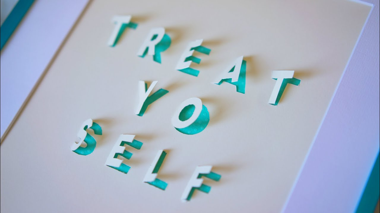 Cut out letters for poster board
