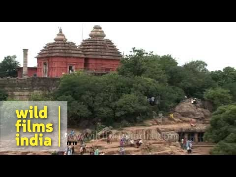 Digambar Jain Temple As Seen From Udayagiri And Khandagiri Caves In Odisha video