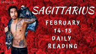 """SAGITTARIUS SOULMATE """"TIME PREDICTION WHEN WILLWE BE TOGETHER"""" FEB 14-15 DAILY TAROT READING"""