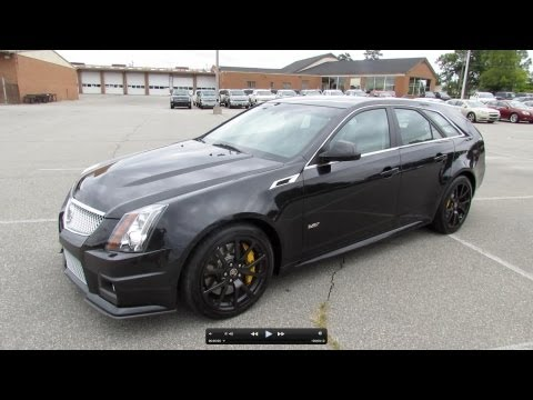 2012 Cadillac CTS-V Sport Wagon Start Up. Exhaust. and In Depth Review