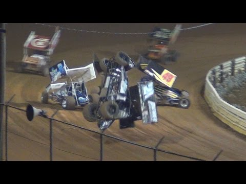 Lincoln Speedway 410 and 358 Sprint Car Highlights 10-11-14