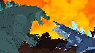 Godzilla Earth vs Zilla Jr   DinoMania - Godzilla Cartoons