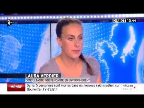 Interview Laura Verdier - ITélé 21/08/2015 - Tianjin, Chine : Pollution suite aux explosions