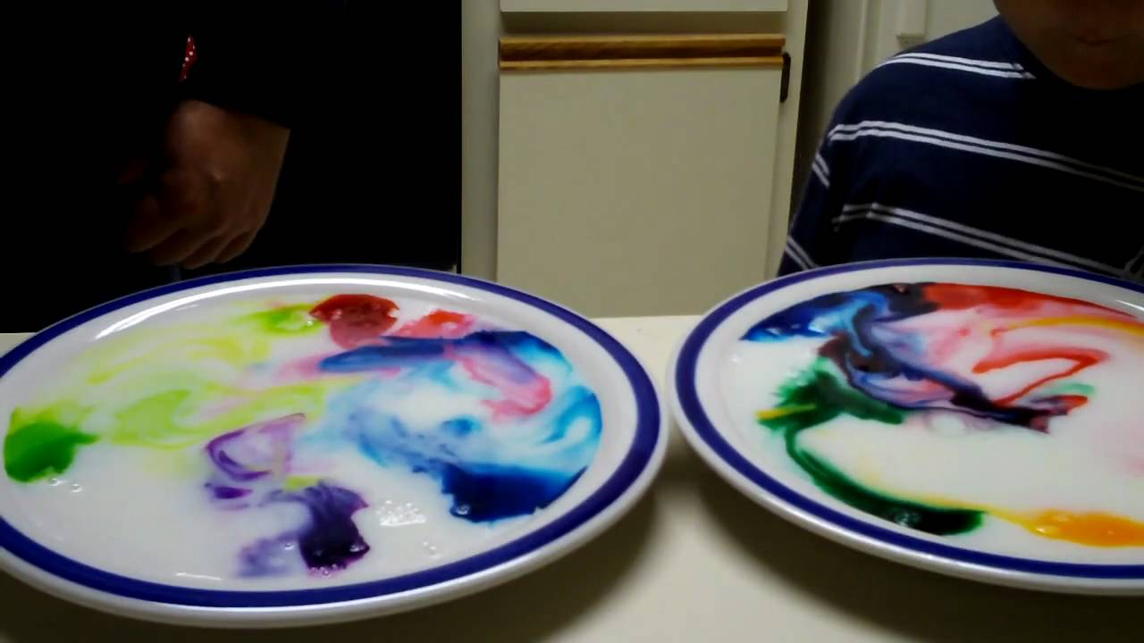 milk and food coloring science project I first remember doing this for an elementary school science fair, so long  learn  about color theory with this magic milk experiment from life lesson plans   liquid watercolors or food coloring milk (milk with higher fat content will work  better.