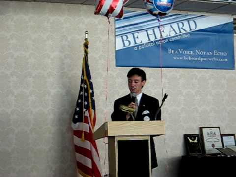 Nick D'Angelo introducing Tom and Deneen Borelli  6 27 2010