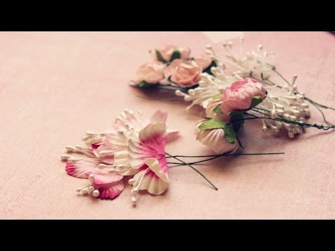 Цветы для скрапа мастер класс
