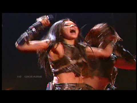 Eurovision 2004 Final 10 Ukraine *Ruslana* *Wild Dances* 16:9 GQ Music Videos