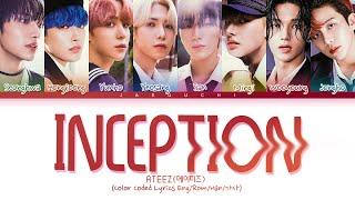 Download lagu ATEEZ 'INCEPTION' lyrics (Color Coded Lyrics Eng/Rom/Han/가사)