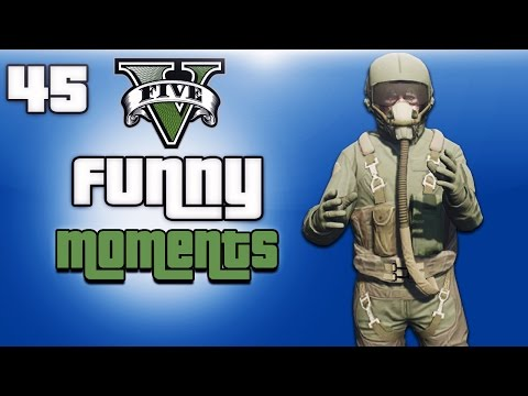GTA 5 Online Funny Moments Ep. 45 (Flight School DLC) Army Base Glitch & Backwards Takeoff!