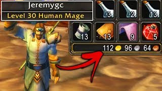 How I Made 100g by Level 30 in Classic WoW