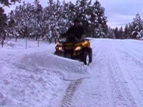 Can-Am 650 snow plow