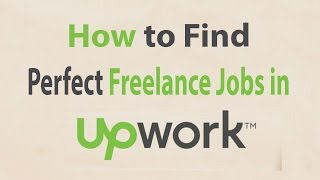 How to Find Perfect SEO Jobs in Upwork