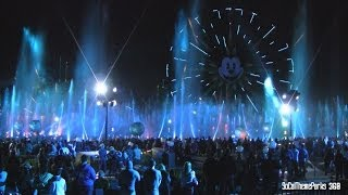 [HD] Spectacular TRON Scene in World of Color Water Show - Disney California Adventure