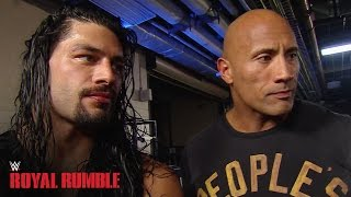 Baixar Roman Reigns celebrates with The Rock after winning the Royal Rumble Match - WWE Network