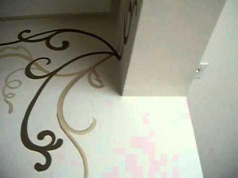 Pintura decorativa em paredes por youtube - Pintura dorada para paredes ...