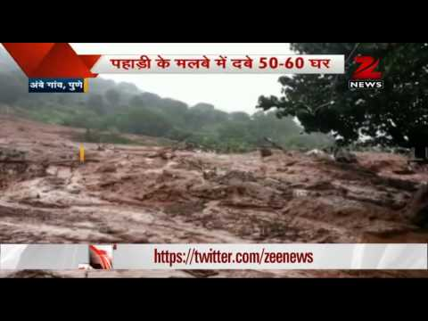 Massive landslide buries Pune's Malin village, over 100 people trapped