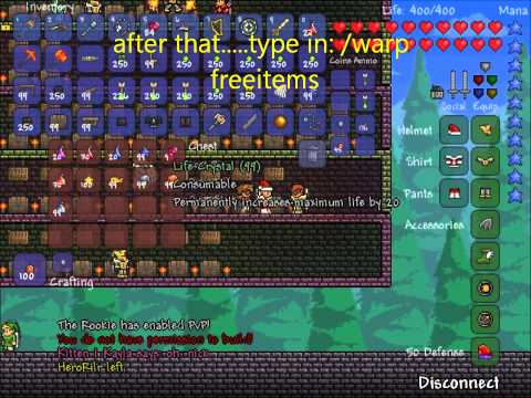 Terraria free item server!