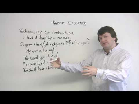 English Grammar – Passive Causative