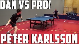 Peter Karlsson vs TableTennisDaily's Dan!