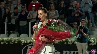 Flavia Pennetta Rome Retirement Celebration