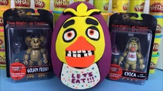 Five Nights at Freddy Huge Surprise Egg Chica FNAF Toys