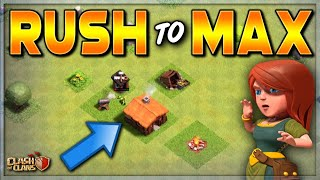 RUSH TO MAX!  NEW (epic) CLASH OF CLANS SERIES!