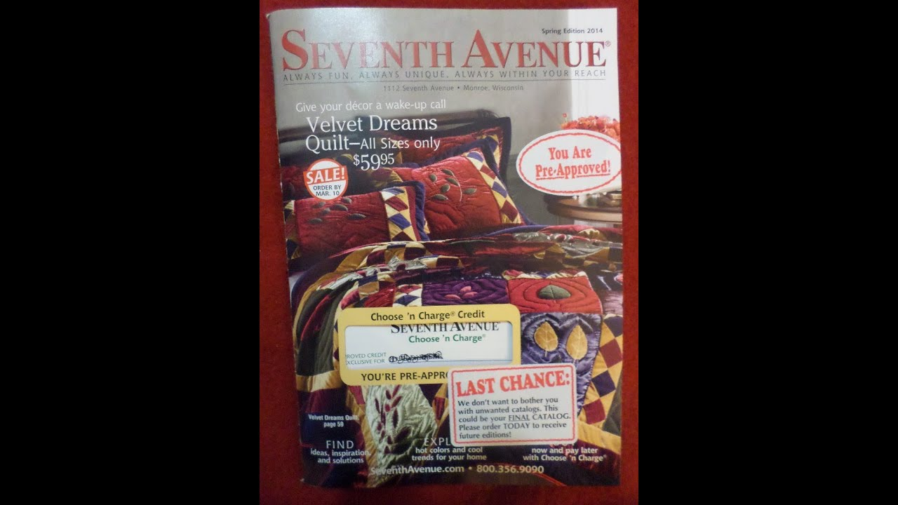 Seventh avenue catalog online