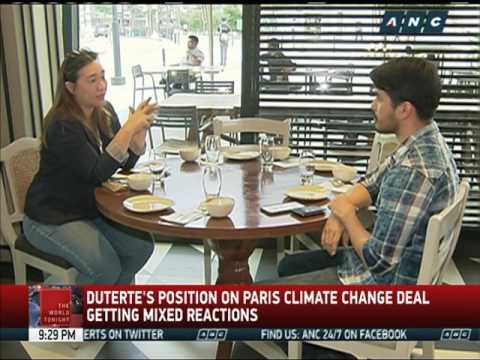 What Duterte says on climate change deal