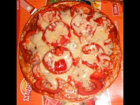 Рецепт быстрой пиццы в микроволновке