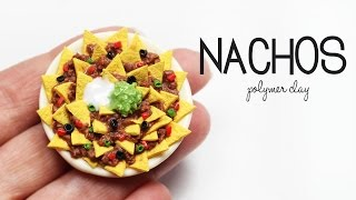polymer clay Nachos TUTORIAL | polymer clay food