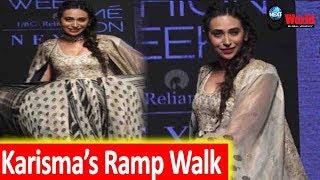 Karisma Kapoor Looks Super Stylish as she Walks on Ramp at Lakme Fashion Week 2019 | Day 05