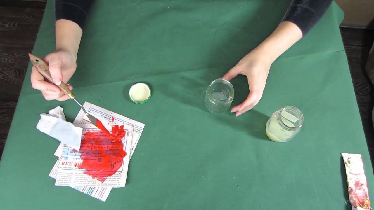 Сделать масляные краски в домашних условиях 350