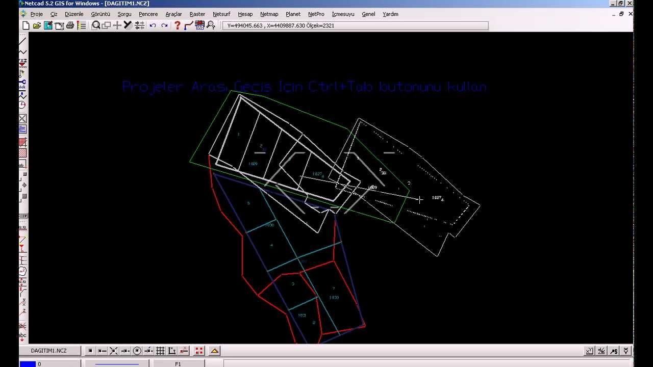 Netcad Üzerinde Projeler Arası Çizim Taşıma - YouTube