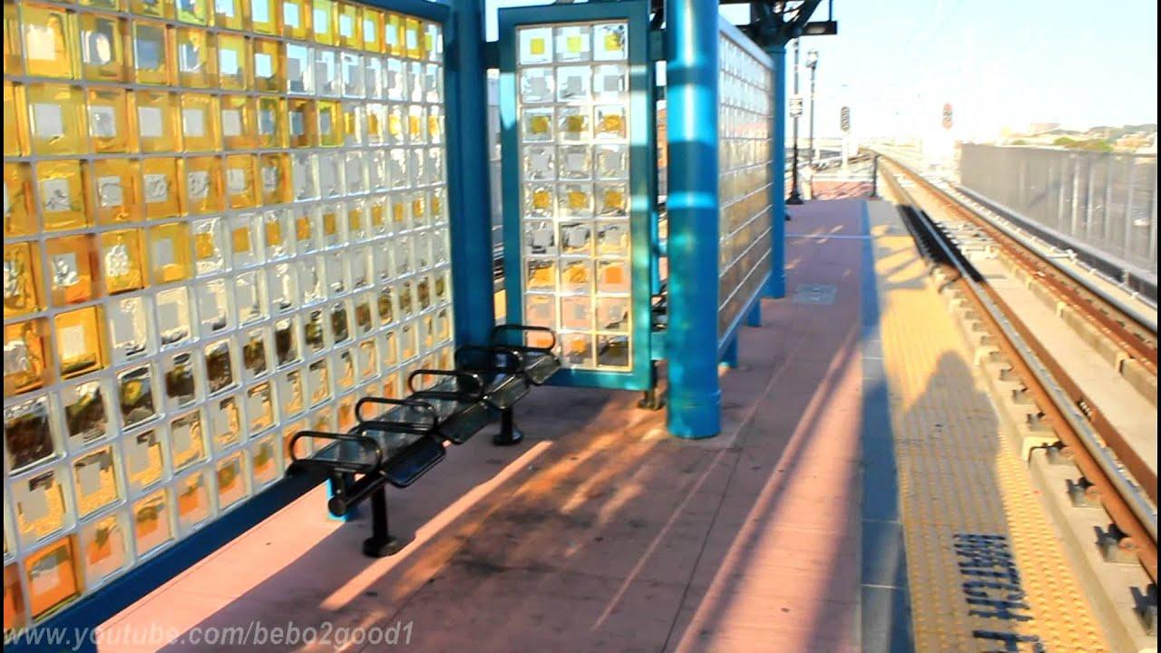 njt hblr trains to hoboken a station tour of 8th street lrt station youtube. Black Bedroom Furniture Sets. Home Design Ideas