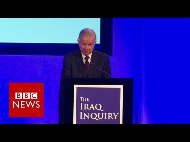 """Chilcot Report: """"Military action was not a last resort"""" - BBC News"""