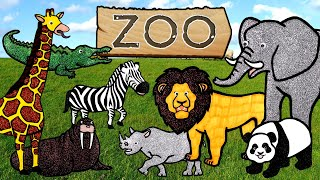 Learn Zoo Wild Animals Puzzle Animation Learning For Children/Learn Farm Animals /Animal Animation