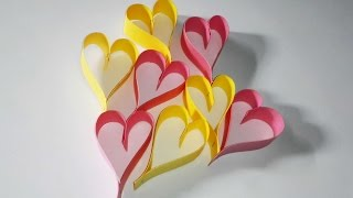 How to Make Easy Paper Heart  || Valentines day Special; Paper hearts