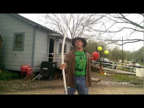 Hillbilly fun with the bow and arrows.  Family time gets wild on the bayou!
