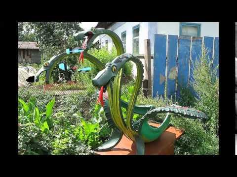 Поделки из шин для сада и огорода своими руками с фото