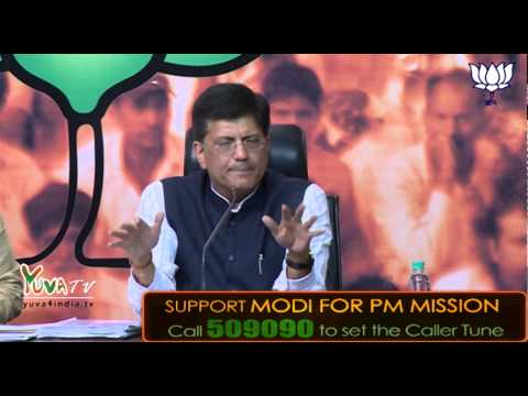 BJP questions Sonia Gandhi on jobs & inflation: BJP Press by Shri Piyush Goyal