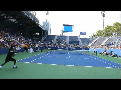 Andy Roddick / Somdev Devvarman 2013 Last Warmup Before Retirement 2012 8 / 10