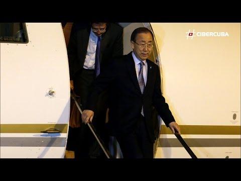 Ban Ki-Moon y Maduro llegan a Cuba para la firma de paz entre las FARC y el Gobierno de COlombia