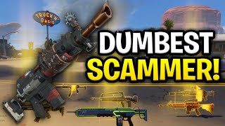 The Worlds Dumbest Scammer Ever Scams Himself Scammer Get Scammed Fortnite Save The World