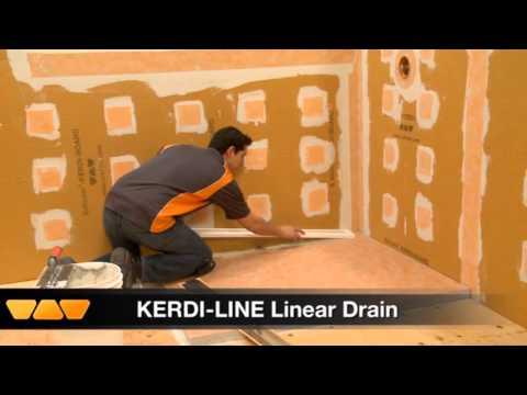 Kerdi Line Drain Installation Schluter Systems Mp4 Youtube