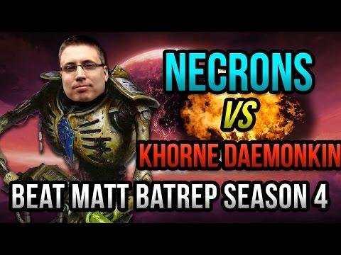 Necrons vs Khorne Daemonkin Warhammer 40k Battle Report   Beat Matt Batrep Ep 11
