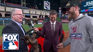 Stephen Strasburg wins the 2019 World Series MVP Trophy | FOX MLB