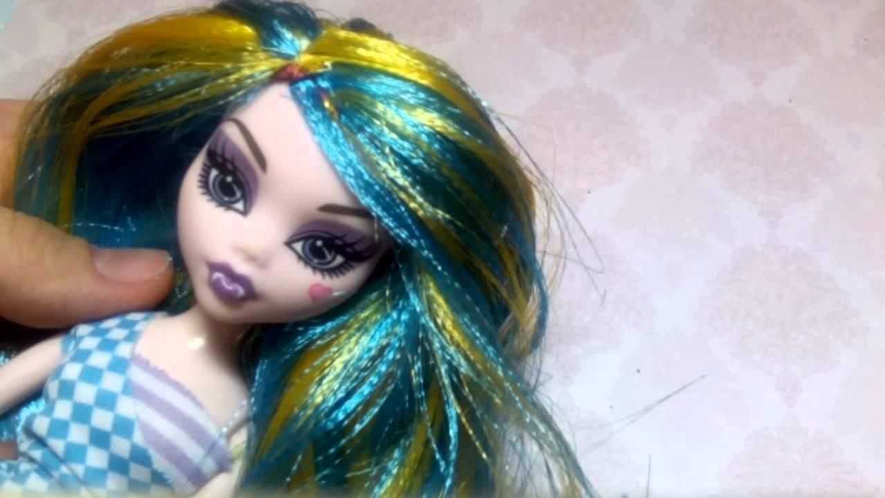 Как сделать парик для кукол монстер хай своими руками