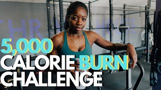 BURNING 5,000 CALORIES in one day, Can I do it? | Fitness challenge vlog