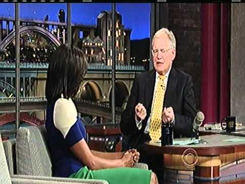 MICHELLE OBAMA (part2) on late show with david letterman 3/19/12 part 2