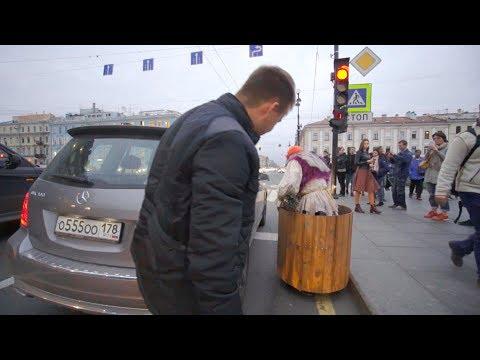 ПРАНК!!! Бабка на гироступе-3! ДТП в Питере.